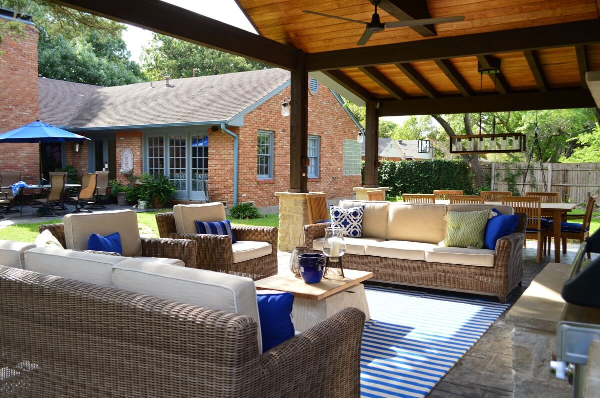 Covered Patio With Sitting Area